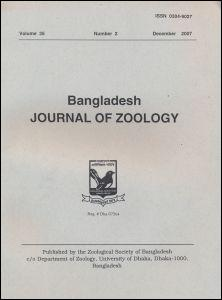 Cover of Bangladesh Journal of Zoology
