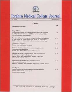 Cover of Ibrahim Medical College Journal